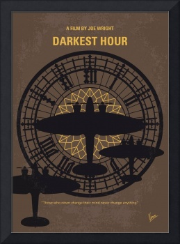 No901 My Darkest Hour minimal movie poster