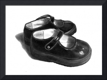 Little Black Shoes in Pencil