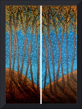 Twilight Maples Diptych