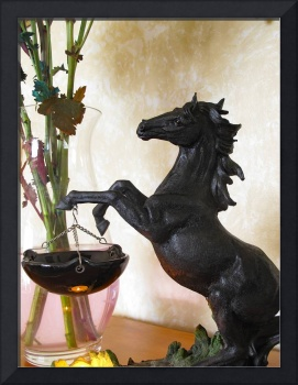 Black Equine Figurine