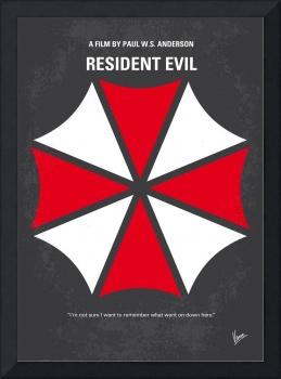 No119 My RESIDENT EVIL minimal movie poster