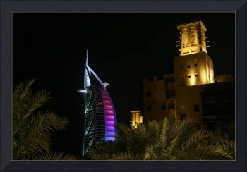 Burj Al Arab Hotel at Night