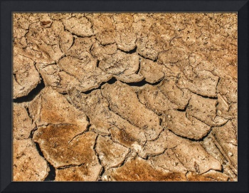 Dry brown cracked mud natural abstract