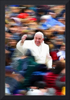 Pope Francis In Crowd of Faithful Acrylic 4