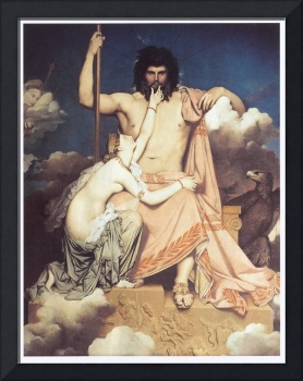 Zeus and Thetis by Jean Auguste Ingres