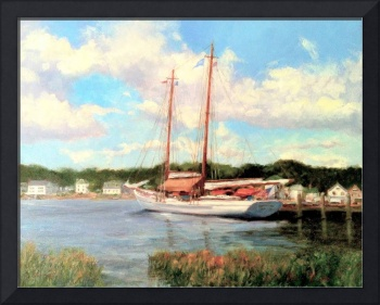 Schooner Moored on the Mystic River