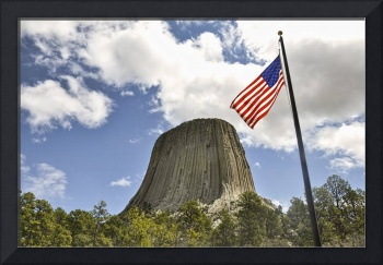 Flag Over Devils Tower