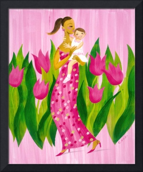 Pink Tulips - A Mother and Daughter