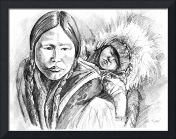 Eskimo Mother and Child