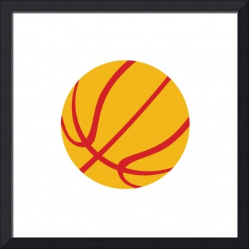 Basketball Ball Isolated Retro