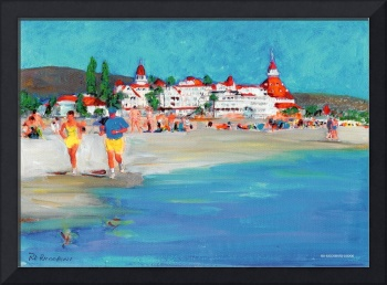 The Beach on Coronado Island by Riccoboni