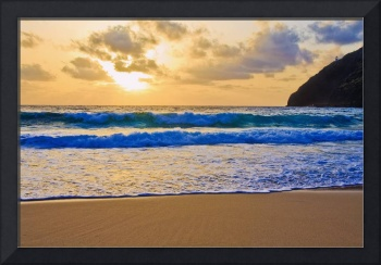 sunrise at Makapuu Beach, Hawaii