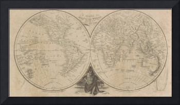 Vintage Map of The World (1811)
