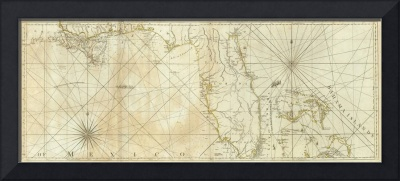 Vintage Map of Florida and The Bahamas (1776)