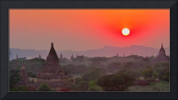 Sunset Over Bagan Temples #2