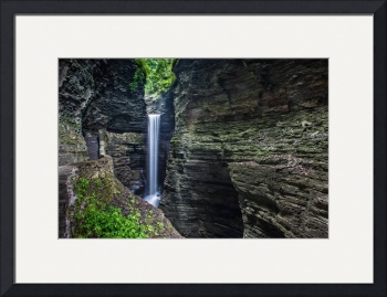 Watkins Glen Waterfall by D. Brent Walton