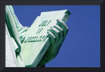 R.Watts Close-Up Of Tablet Of Statue Of Liberty,