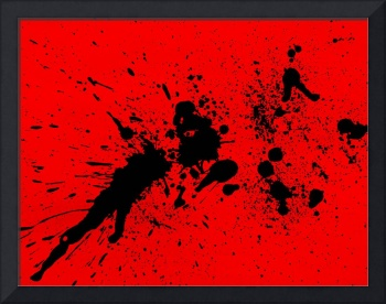 Red and Black Splatter Painting