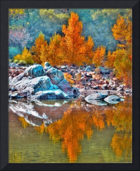 Yuba River_Fall Reflections