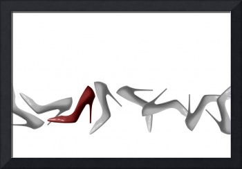 Row of Shoes Abstract