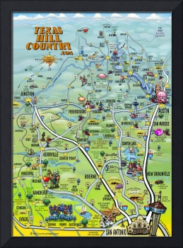 Texas Hill Country Cartoon Map