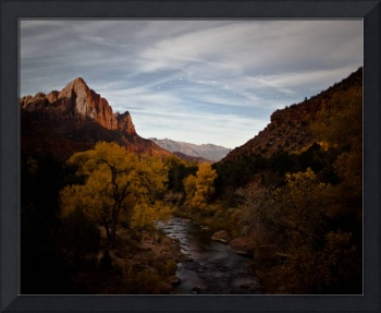 fall night in Zion