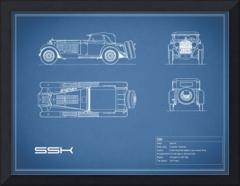 Mercedes SSK Blueprint