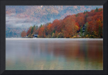 Autumn morning over Lake Bohinj