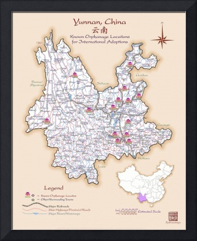 Yunnan China Orphanage Location Map v1.1