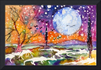 Days of Cold Watercolor and Ink by Ginette
