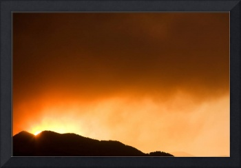 Fourmile Sunset the Night of the Fire Boulder Cany