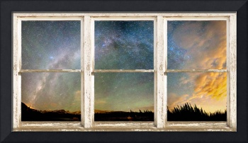 Colorado Milky Way Panorama Rustic Window View