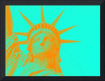 statue of liberty in orange 2