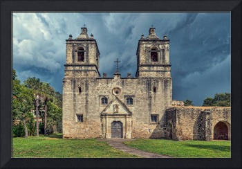 Mission Concepcion Stormy Skies
