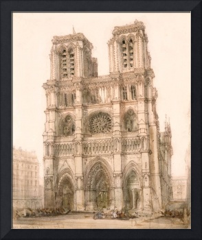 Notre Dame, Paris by David Roberts, RA