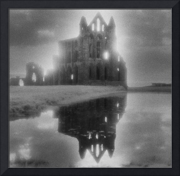 Whitby Abbey, Yorkshire (b/w photo)