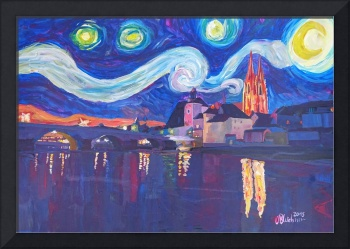 Starry Night in Regensburg - Van Gogh Inspirations