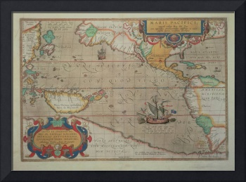 Map of the Pacific, China and America, 1589