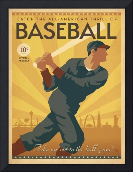 All American Vintage Baseball Poster