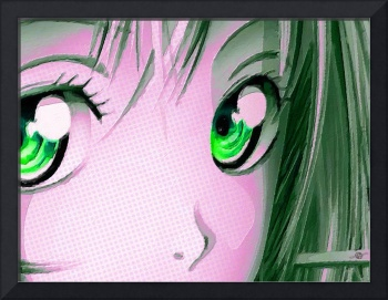 Anime Girl Eyes 2 Pink