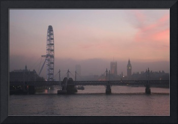 London Eye & Palace of Westminster from Waterloo B