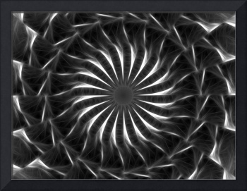 Gray Kaleidoscope Art 11