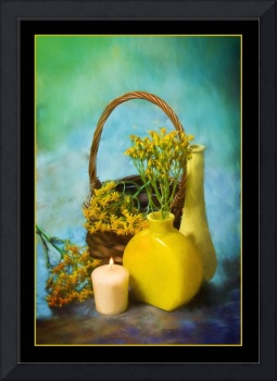 7070PS Yellow Still Life Painting
