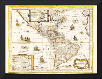 Map of North and South America (1661)