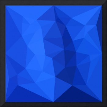 Bright Navy Blue Abstract Low Polygon Background