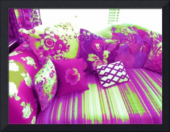 PURPLE & GREEN COUCH