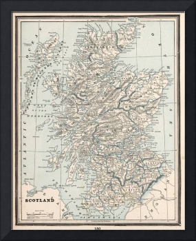 Vintage Map of Scotland (1893)