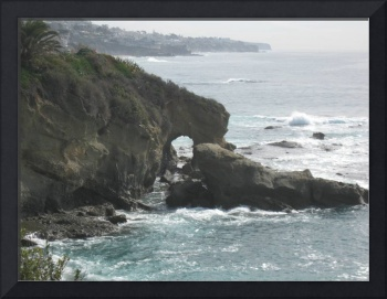 Keyhole Rock Formation at Montage Beach