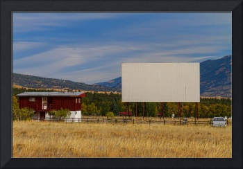 Classic American Retro Drive-In Theater