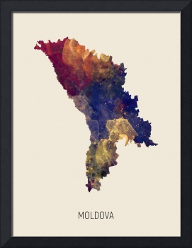 Moldova Watercolor Map